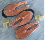 FRESH Atlantic Raised Salmon Steaks (bone in) (Per LB)