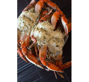 Florida garlic Blue crabs (Per LB)